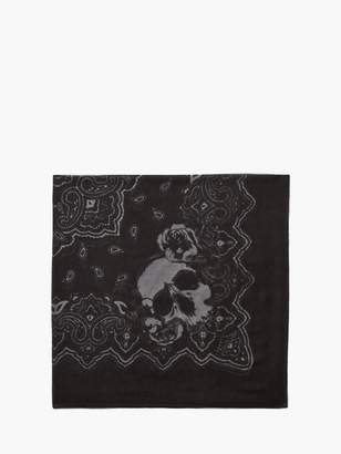John Varvatos Woven Skull And Paisley Bandana