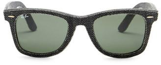 Ray-Ban Men's Denim Wayfarer Acetate Frame Sunglasses $200 thestylecure.com