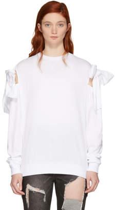Sjyp White Ribbon Tie Sweatshirt