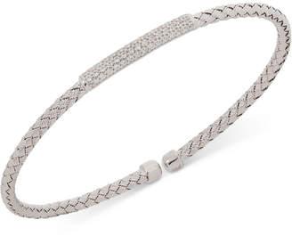 Giani Bernini Bar Cz Weave Bangle Stack Bracelet in Sterling Silver, 18K Gold-Plated or Rose Gold-Plated Sterling Silver, Created for Macy's