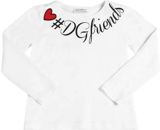Dolce & Gabbana Friends Jersey Long Sleeve T-shirt