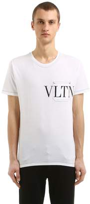 Valentino Logo Pocket Cotton Jersey T-Shirt