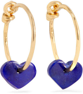 Lapis I+I Gold-plated Lazuli Earrings