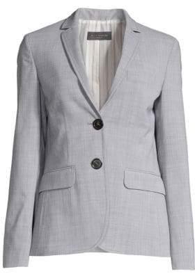 Piazza Sempione Wool-Blend Blazer Jacket