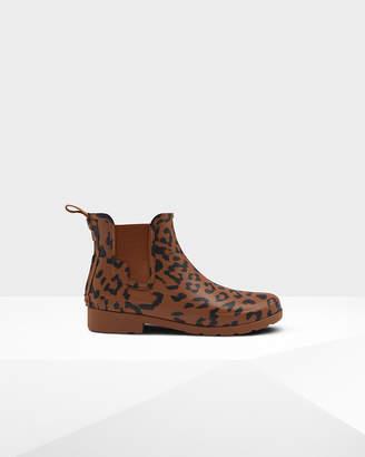 Hunter Women's Original Leopard Print Refined Chelsea Boots