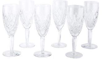 Waterford Crystal Set of Six Avoca Water Goblets