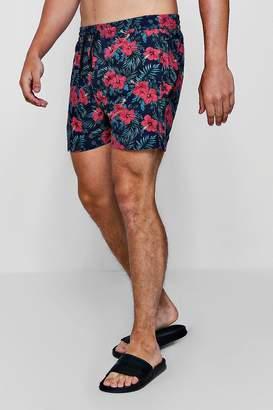 boohoo Tropical Floral Print Swim Shorts