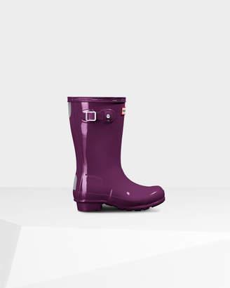 Hunter Kids' Gloss Rain Boots