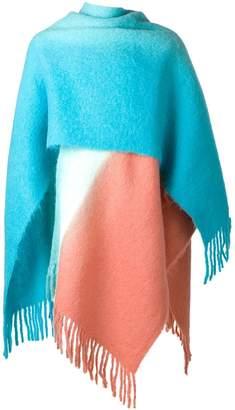 Acne Studios Kelow Dye poncho scarf