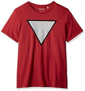 GUESS Men's Short Sleeve Basic Foil Logo Crew Tee