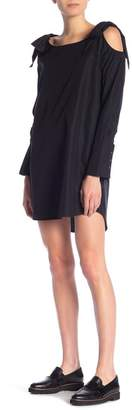 Frame Bow Detailed Cold Shoulder Dress