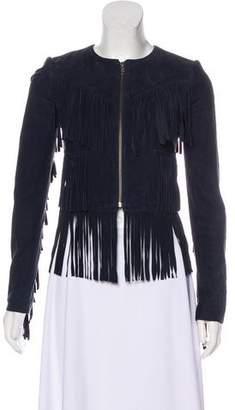 Gryphon Leather Fringe Jacket