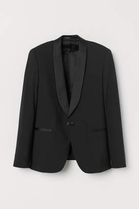 H&M Skinny Fit Wool Tuxedo Jacket