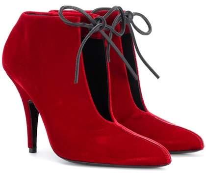 Tom Ford Ellipse velvet ankle boots