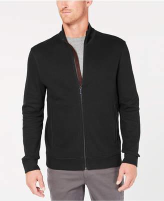 Tasso Elba Men Zip-Front Heathered Jacket
