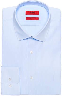 HUGO BOSS Men's Slim-Fit Light Blue Thin Stripe Dress Shirt