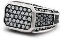 David Yurman Streamline Pave Signet Ring With Black Diamonds