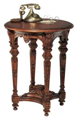 Toscano Design Louis XIV Mahogany Side Table