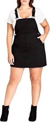 City Chic Denim Overall Dress