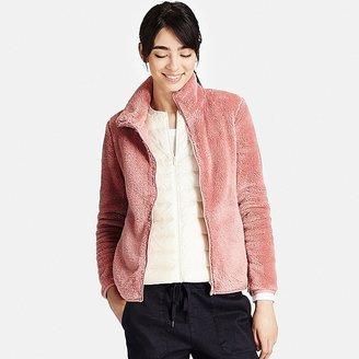 Women Fluffy Yarn Fleece Full Zip Jacket $29.90 thestylecure.com
