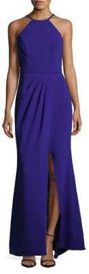 Xscape Evenings Halter Neck Column Slit Gown