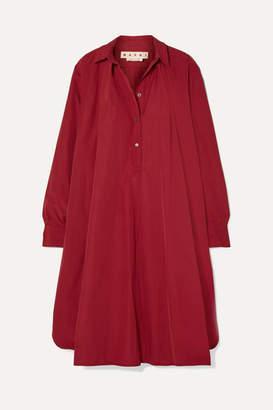 Marni Cotton-poplin Midi Dress - Claret
