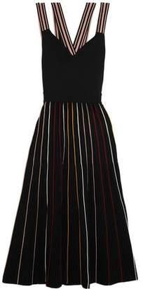 Roksanda Striped Ribbed Stretch-Knit Dress