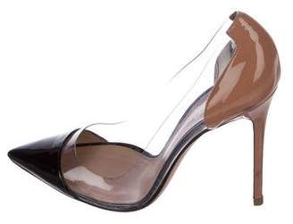 Gianvito Rossi Pointed-Toe PVC Pumps