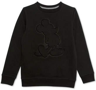 Disney Big Boys Embossed Mickey Mouse Sweatshirt