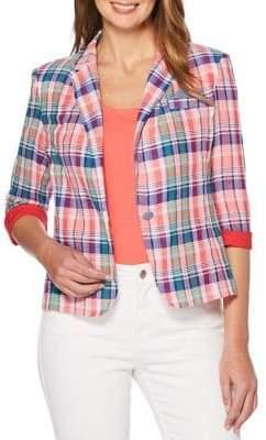 Rafaella Petite Classic Plaid Blazer
