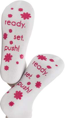 Baby Be Mine Labor and Delivery Non Skid Socks by Maternity (6-10, )