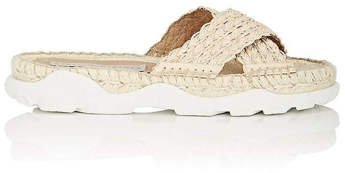 Stella McCartney Women's Woven Espadrille Slide Sandals