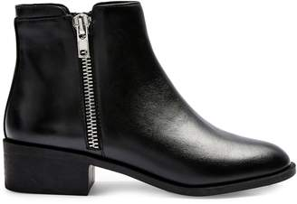 Topshop Khloe Leather Zip Ankle Boots