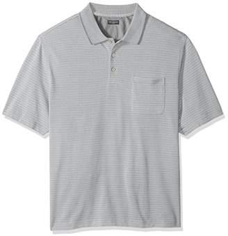 Van Heusen Men's Big and Tall Flex Jacquard Short Sleeve Stripe Polo Shirt