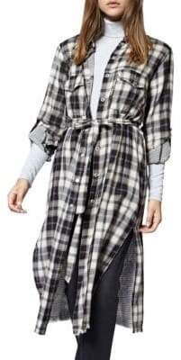 Sanctuary Boyfriend For Life Plaid Midi Top