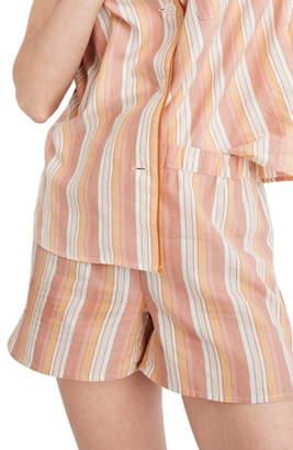 Madewell Bedtime Rainbow Stripe Pajama Shorts