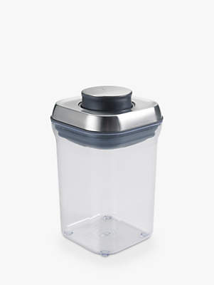 OXO Good Grips Square POP Storage Container, Steel, 0.9L