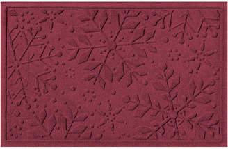 Bungalow Flooring Snowflake Polyester Indoor/Outdoor Doormat