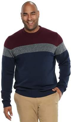 Izod Big & Tall Colorblock Sweater