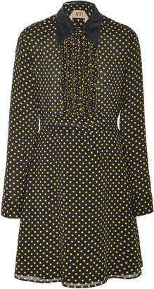 N°21 N 21 Amelia Dot Crepe Shirt Dress