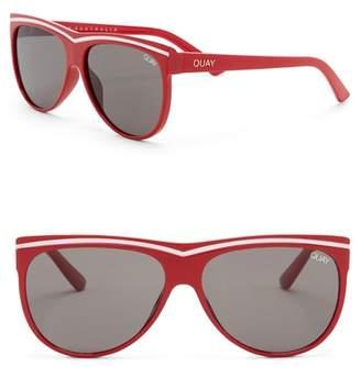 Quay Hollywood Nights 55mm Shield Sunglasses