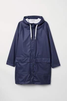 H&M H&M+ Hooded Rain Jacket - Blue