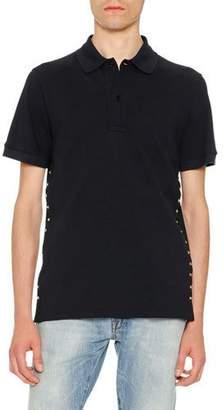 Valentino Rockstud Polo Shirt, Navy