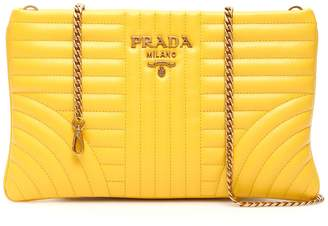 Prada Diagramme Clutch With Chain