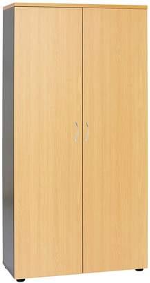 Filing Cabinets & Storage Velocity Storage Cupboard, Golden Beech, Large, Designtec Ironstone