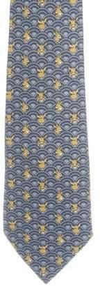 Hermes Silk Animal Print Tie