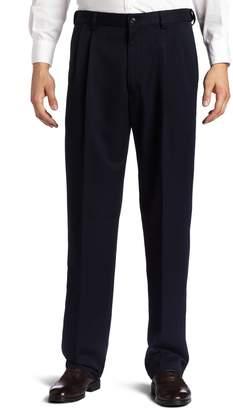 Haggar Men's Cool 18 Hidden Expandable Waist Pleat Front Pant
