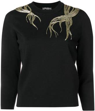 Alexander McQueen embroidered jumper