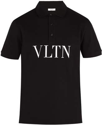Valentino Logo-print cotton-piqué polo shirt