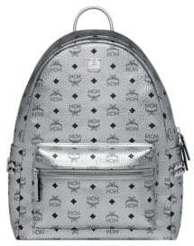 MCM Stark Studs Metallic Visetos Backpack